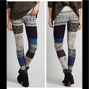 Absolutely Adorable Free People Patchwork Leggings